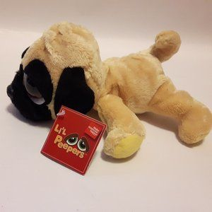 Russ Lil Peepers Pippin Pug Plush Toy NWT